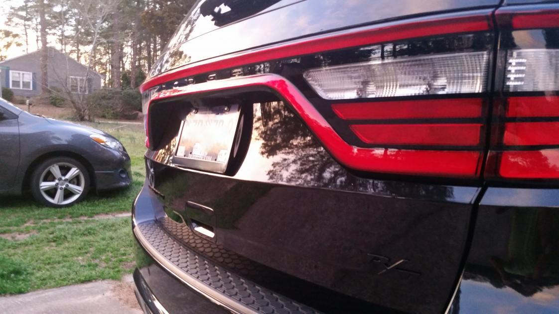 license plate frame 20150316_193716 2 jpg - Dodge License Plate Frame