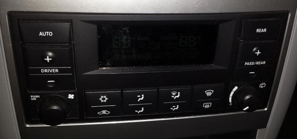 Problem With Climate Control Lights Controls Jpg