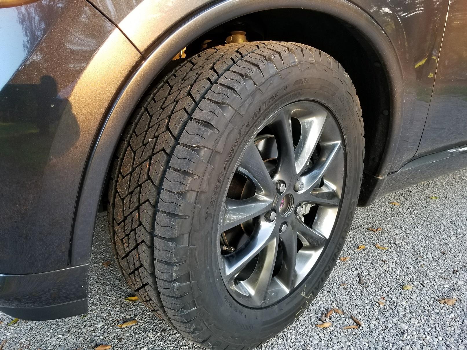 Dodge Durango Citadel >> 275/55R20 - Continental TerrainContact AT