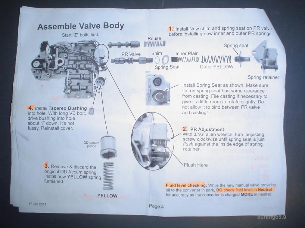 Worksheet. DIY 46RE Transgo JR shift kit install