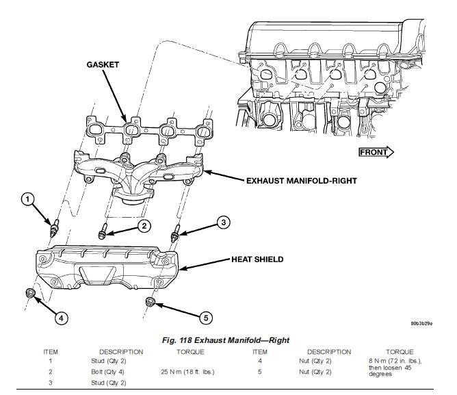 D Replacing Exhaust Manifold Gaskets Exh Manifold on 2004 Dodge Dakota Exhaust Manifold