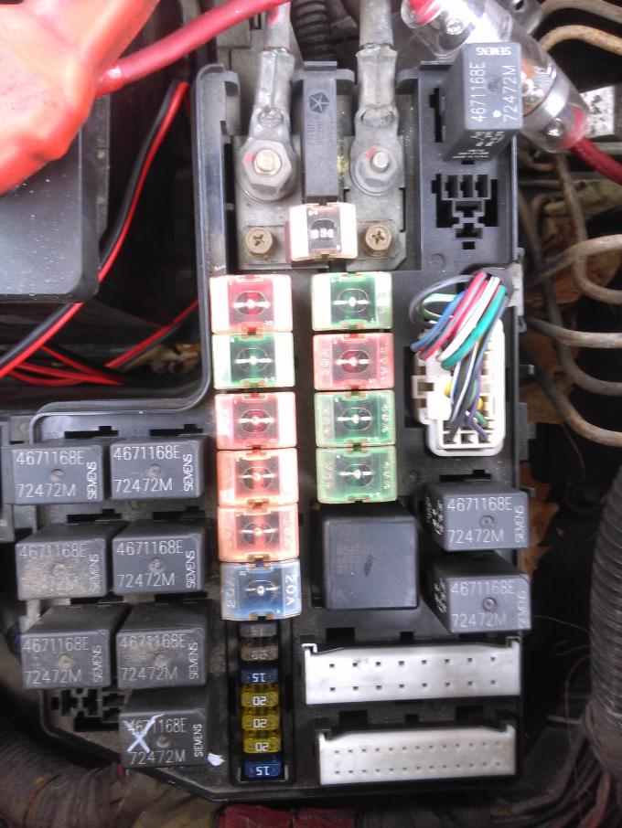 D O Sensor Fuse Relay Missing Img on Dodge Durago