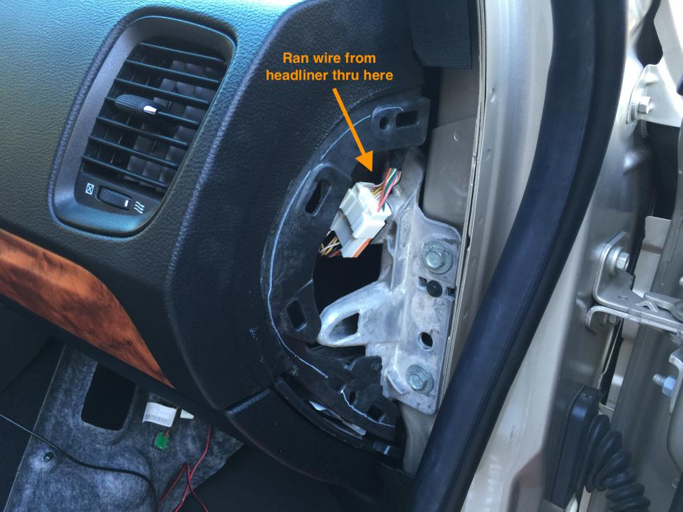 D Dashcam Hardwire Install Details Rexing V Img on 07 Dodge Durango