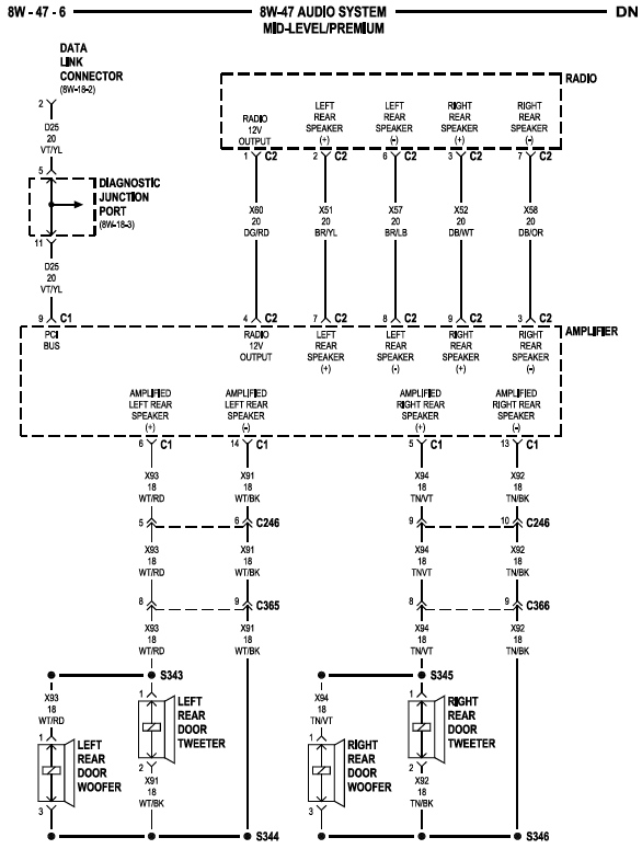 2000 Gen 1 Infinity System Wiring Diagram  Durango Wiring Diagram on 1998 durango heater core replacement, 2000 durango wiring diagrams, dodge wiring diagrams, 1998 durango service manual, 1998 durango front suspension,