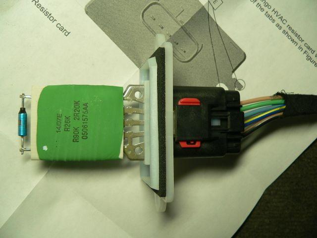D Blower Motor Resistor Pack Redesign P on 1998 Dodge Durango Blower Motor Resistor Location