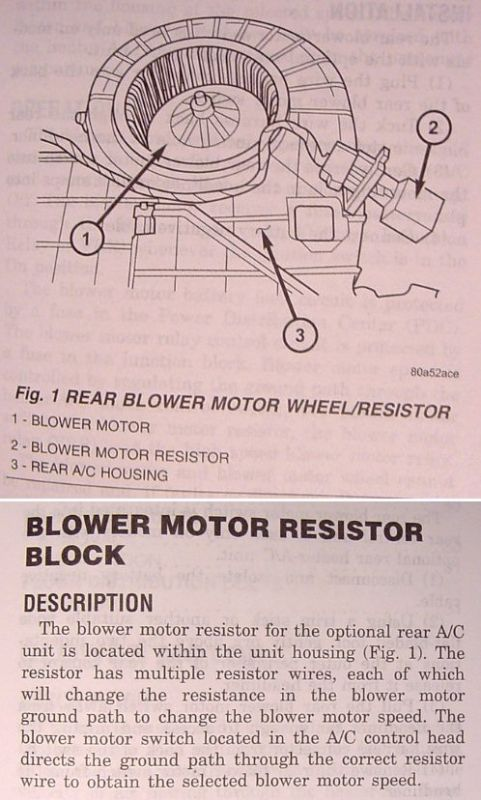 D Blower Motor Resistor Location Info Rear Resister on 1998 Dodge Durango Blower Motor Resistor Location
