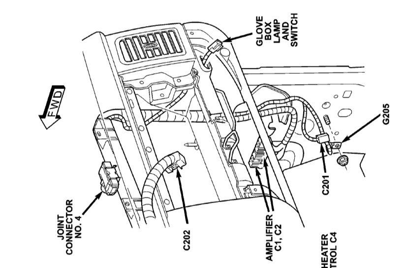 2003 dodge durango stereo wiring issues