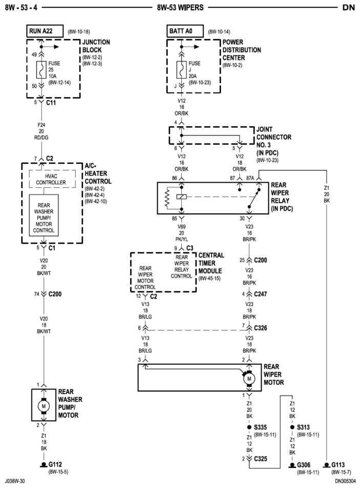 2004 dodge durango wiper wiring diagram