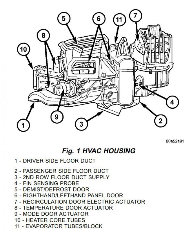 2004 dodge durango air conditioner diagram